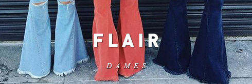 Dames flare jeans