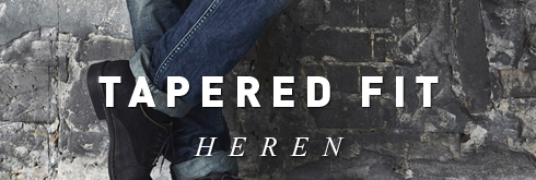 Heren tapered fit