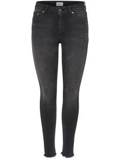 Only ONLBLUSH MID ANK RAW JEANS Skinny Fit black denim rea1099 15157997
