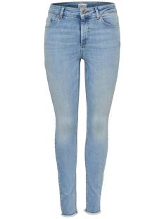 Only Jeans Only ONLBLUSH MID SK ANK RAW JEANS Skinny Fit light blue denim rea306 15164319