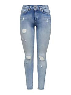 Only Jeans Only ONLBLUSH LIFE MID SK RW AK DT RE Skinny Fit light blue 15223417