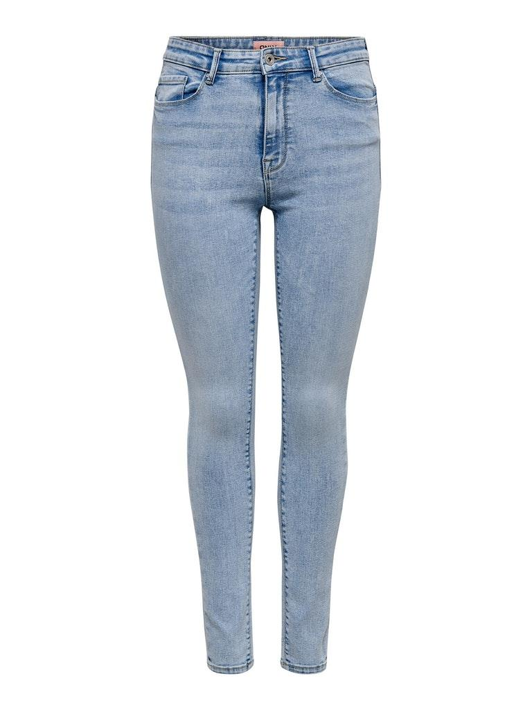 Only dames Jeans ONLPAOLA LIFE HW SKINNY ANK AZG8 M/30 Blauw