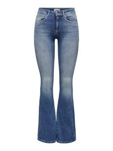 Only Jeans Only ONLBLUSH LIFE MID FLARED BB REA1 Flare medium blue 15223514