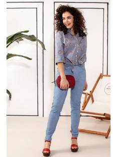 Studio Anneloes Five pocket denimlook tr 04389 Broek 6300 light jeans blue
