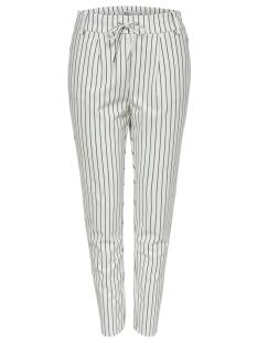 Only Broek Only ONLPOPTRASH EASY RUSH STRIPE Broek cloud dancer str: black 15176615