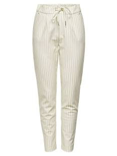Only Broek Only ONLPOPTRASH EASY RUSH STRIPE Broek cloud dancer str: humus 15176615