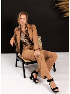 Studio Anneloes Broek Studio Anneloes Flair bonded trousers 04796 Broek 8400 camel