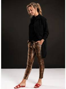 Studio Anneloes Broek Studio Anneloes Upline tiger trousers 04771 Broek 8490 camel/black