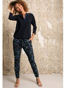 Studio Anneloes Broek Studio Anneloes Loose fit cargo camo trousers Broek 6979 darkblue/meadow green