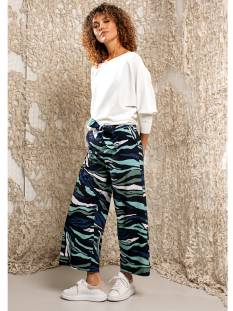 Studio Anneloes Broek Studio Anneloes Charlotte big camo trouser 04858 Broek 6979 darkblue/meadow green