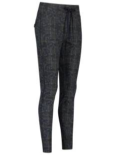 Studio Anneloes Road flower check trousers 05068 Grijs