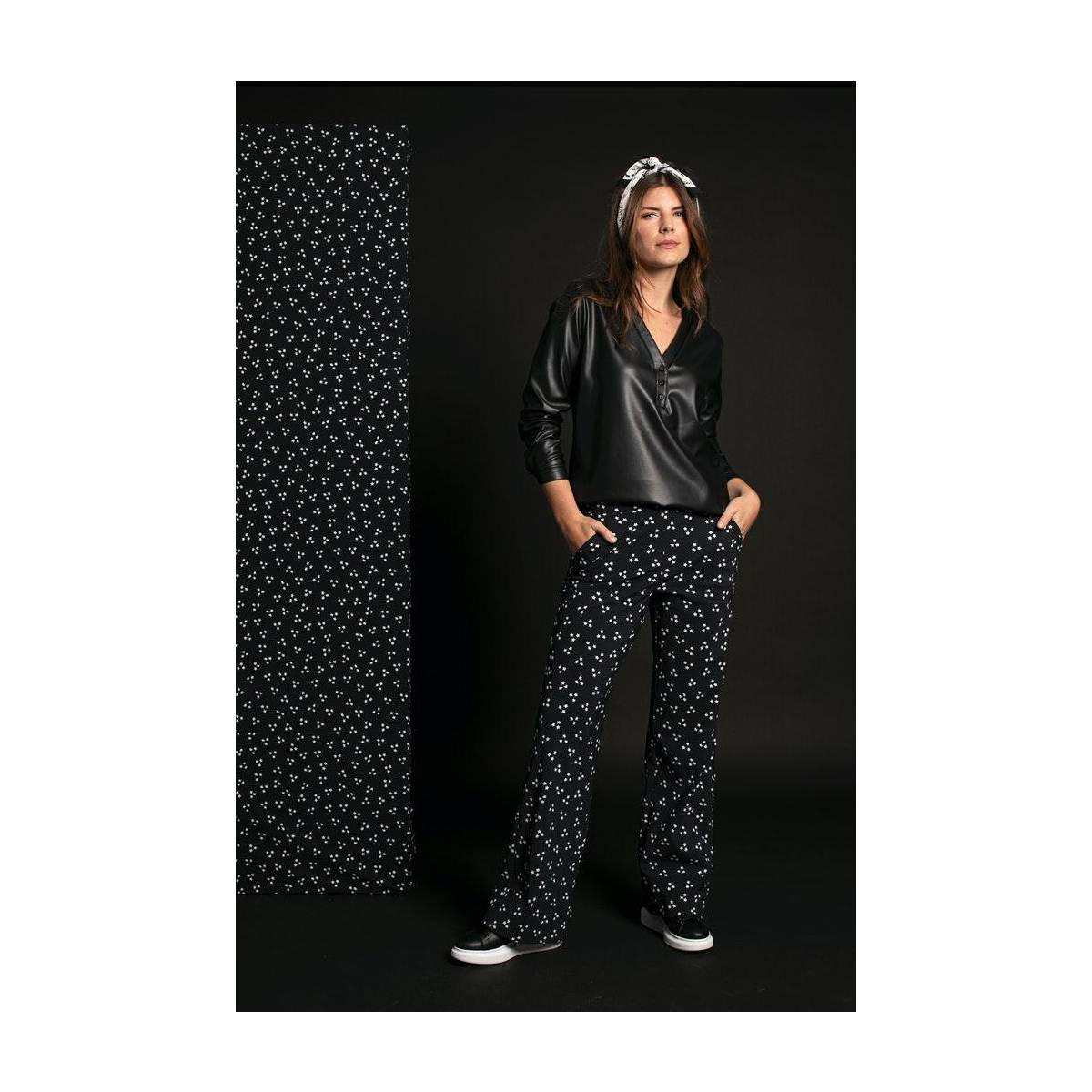 Studio Anneloes Young Marilyn star trouser 05239 Zwart