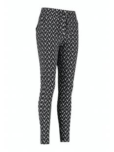 Studio Anneloes Broek Studio Anneloes Upstairs zig zag trousers 05750 Broek 9011 black/off white