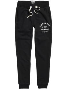 Superdry Broek Superdry G70021PQF1 APPLIQUE SLIM JOGGER Trainingsbroek black 02a