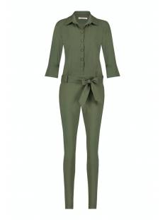 Studio Anneloes Broek Studio Anneloes Angelique jumpsuit 3/4 with cuff Jumpsuit 7000 green