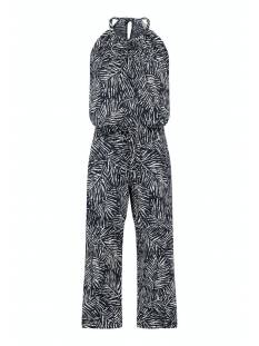 Studio Anneloes Broek Studio Anneloes Upama leaf jumpsuit 7/8 05684 Jumpsuit 6911 dark blue/off white