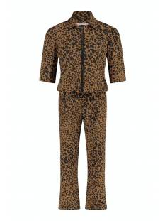 Studio Anneloes Broek Studio Anneloes Eliza animal zipp jumpsuit 05739 Jumpsuit 2390 cinnamon/black