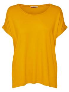 Only Shirt en Top Only ONLMOSTER S/S O-NECK TOP Dames T-Shirts en Tops golden yellow 15106662