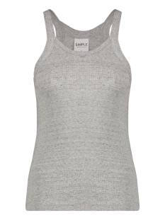 Simple Shirt en Top Simple SILVY MELANGE-NAPPY-JERSEY Dames T-Shirts en Tops grey melange