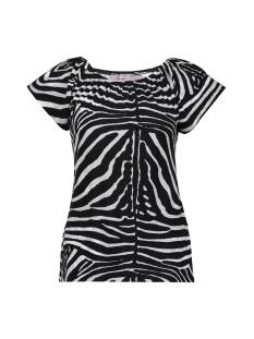 Geisha Shirt en Top Geisha 12131-60 KIM Dames T-Shirts en Tops 902 pr. 02-21-1 black/grey zebra