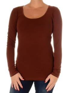Only Shirt en Top Only LIVE LOVE LONG O-NECK LS T-Shirt Lange mouw cherry mahogany