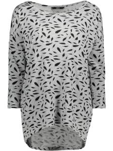 Only Shirt en Top Only ONLELCOS 4/5 AOP 15144286 T-Shirt Lange mouw l.grey mele/black flower