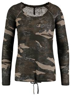 Key Largo Shirt en Top Key Largo WLS00026 WLS EXPLORE ROUND T-Shirt Lange mouw 1606 mocca brown
