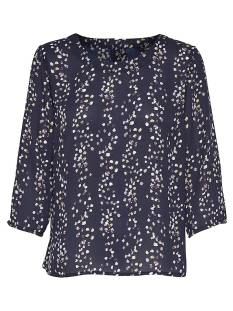 Only Shirt en Top Only ONLDITTE GIRA 3/4 TOP WVN T-Shirt Lange mouw night sky 15155127