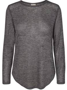 Vero Moda Shirt en Top Vero Moda VMNEW ELVA LS O-NECK BLOUSE T-Shirt Lange mouw light grey melange 10189338
