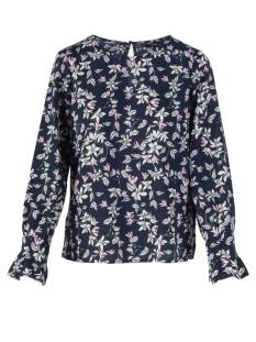 Vero Moda Shirt en Top Vero Moda VMVIOLA LS TOP WVN T-Shirt Lange mouw night sky 10213854