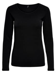 Only ONLLIVE LOVE L/S O-NECK TOP T-Shirt Lange mouw black 15204712