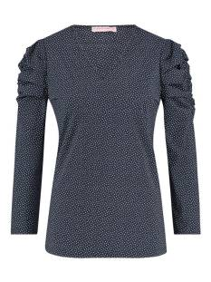 Studio Anneloes Laure small dot shirt 04367 T-Shirt Lange mouw 6911 dark blue/off white