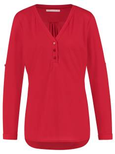 Studio Anneloes Shirt en Top Studio Anneloes Evi blouse 04790 T-Shirt Lange mouw 3000 red