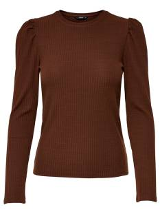 Only Shirt en Top Only ONLEMMA L/S PUFF TOP T-Shirt Lange mouw cherry mahogany 15222328