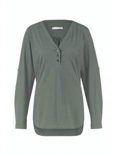Studio Anneloes Evi blouse 05090 T-Shirt Lange mouw 7800 moss green