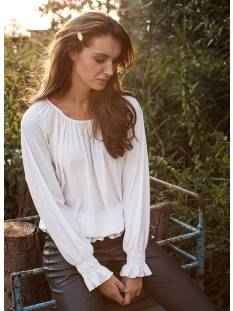 Studio Anneloes Shirt en Top Studio Anneloes Josje blouse 05074 T-Shirt Lange mouw 1100 off white