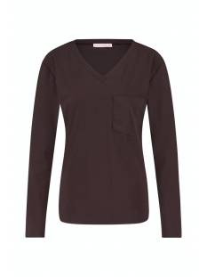 Studio Anneloes Shirt en Top Studio Anneloes Roller LS shirt 05162 T-Shirt Lange mouw 8600 coffee brown
