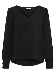 Only Shirt en Top Only ONLUMA LS TOP WVN T-Shirt Lange mouw black uni 15172714