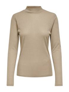 Only ONLDIANA LUREX L/S TOP JRS T-Shirt Lange mouw frosted almond 15180844