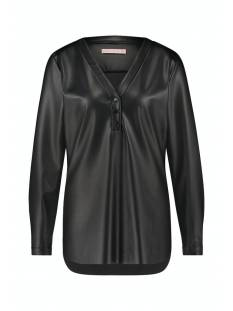 Studio Anneloes Shirt en Top Studio Anneloes Evi leather blouse 05277 T-Shirt Lange mouw 9000 black