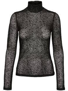 Vero Moda VMKELLY LS HIGH NECK TOP JRS T-Shirt Lange mouw black pattern 10239009