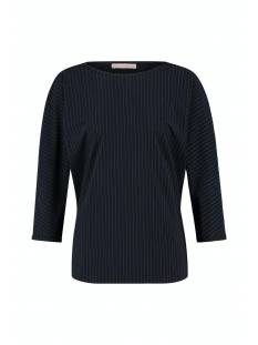 Studio Anneloes Shirt en Top Studio Anneloes Boat pinstripe top 05308 T-Shirt Lange mouw 6911 dark blue/off white