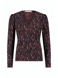 Studio Anneloes Shirt en Top Studio Anneloes Sophia big letter shirt 05365 T-Shirt Lange mouw 3969 wine red/dark blue