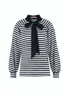 Studio Anneloes Shirt en Top Studio Anneloes Lola stripe blouse 05519 T-Shirt Lange mouw 1069 white/dark blue
