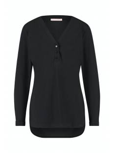 Studio Anneloes Shirt en Top Studio Anneloes Evi basic blouse 94734 T-Shirt Lange mouw 9000 black