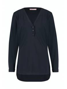 Studio Anneloes Shirt en Top Studio Anneloes Evi basic blouse 94734 T-Shirt Lange mouw 6900 dark blue