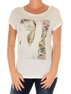 Only Shirt en Top Only ONLVISCOSE SS FAVOURITE PRINT T-Shirt Korte mouw cloud dancer inspire