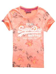 Superdry Shirt en Top Superdry G10001FO VINTAGE LOGO OVERDYED T-Shirt Korte mouw overdyed phosphorescent ar9