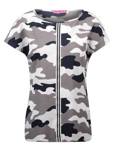 Studio Anneloes SKATER CAMO TOP 00991 T-Shirt Korte mouw 9269 taupe grey/dark blue