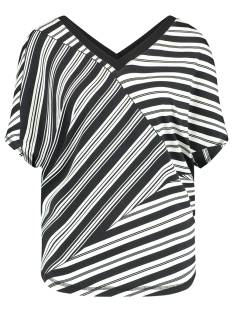 Studio Anneloes JUAN LES PINS BLOCK STRIPE 01086 T-Shirt Korte mouw 1190 off white / black